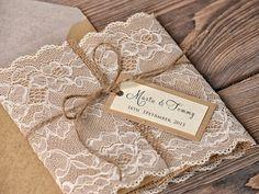 Partecipazioni fai da te per un matrimonio originale!