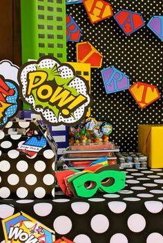 """Superheroes Headquarters""   Fun pops of color"