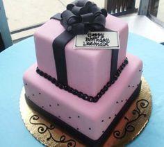present cake   Pink gift box birthday cake.JPG