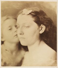 Cupid & Psyche photo by Julia Margaret Cameron (1864) Albumen print from wet collodion glass negative
