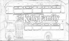 color page kelly family bus