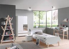 Chambre complète enfant en bois blanc et acacia marcus chambre