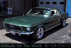 Dark Moss Green 1967 Mustang