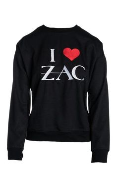 $200.00. I Love Zac Sweatshirt from Zac Posen