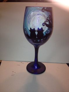 Custom painted wine glass by DrangonflyCreations on Etsy