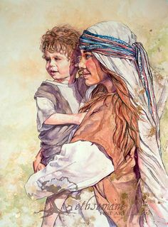 """Paper Print """"Waiting on the Carpenter"""" by Justine Peterson Christian LDS Spiritual Artwork of Jesus and Mary Jesus Stories, Blessed Mother Mary, Contemporary Paintings, Carpenter, Watercolor Paintings, Canvas Art, Fine Art, Art Prints, Waiting"""