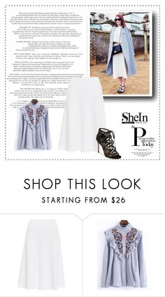 """Shein"" by gold-fashion ❤ liked on Polyvore featuring NIC+ZOE, WithChic and Pour La Victoire"