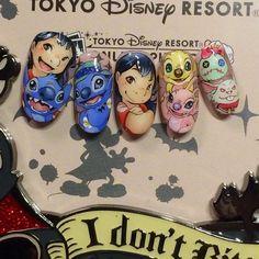 Lilo & Stitch Gel Nail Art