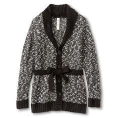 $11.99 Girls' Wrap Sweater Black & White Cherokee®