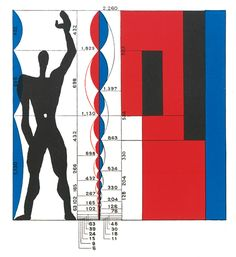 Le Corbusier, The Modulor. Formula for architectural proportion based on the Golden Ratio, the Fibonacci Series, and a slightly idealized male human body. Le Corbusier Architecture, Architecture Design, Architecture Drawings, Proportion Architecture, Golden Ratio Architecture, Architecture Quotes, Chinese Architecture, Architecture Office, Classical Architecture