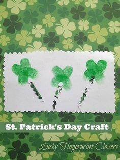 St. Patrick's Day Craft for Kids: Lucky Fingerprint Clovers