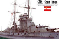 Nagy magyarország: Szent István csatahajó (kép) Austro Hungarian, Battleship, Warfare, Hungary, Sailing Ships, Empire, Boat, Navy, History
