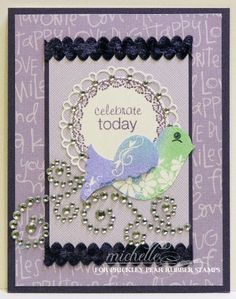 Prickley Pear Rubber Stamps:  Build A Bird 2 Clearly Beautiful Stamp Set, Build A Bird Die, Scalloped Circle Die, Spring Scalloped Circle Clearly Beautiful Stamp Set