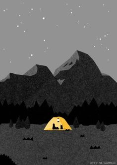 Illustration, Poster, Grafik - My best design list Art And Illustration, Illustrations And Posters, Mountain Illustration, Posca Art, Art Graphique, Grafik Design, Art Design, Art Inspo, Illustrators
