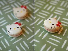 how can you go wrong with hello kitty shaped french macarons!  wait a minute...isnt she japanese?