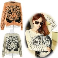 $15.30 New Women's Sweet Long Sleeve Knitted Sweater Top 2 Colors