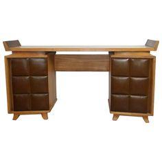 Gilbert Rohde for Herman Miller Desk or Vanity | From a unique collection of antique and modern desks at https://www.1stdibs.com/furniture/storage-case-pieces/desks/