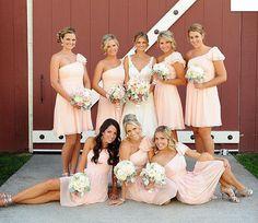blush bridesmaid dress peach one shoulder vestido de casamento curto peach vestido de dama de honra coral dress to wedding party-in Bridesmaid Dresses from Weddings & Events on Aliexpress.com | Alibaba Group
