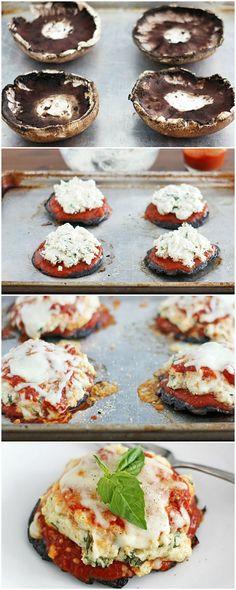 Lasagna Stuffed Portobella Mushrooms