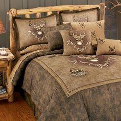 Whitetail Ridge 4 Pc TWIN Comforter Set & 1 Valance-Hunting Bedding Deer Bedroom #BlueRidgeTrading