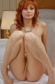 Redhead Beauty From Europe Naked Giving Pussy Peek