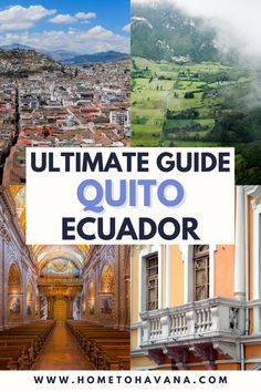 There are plenty of things to do in Quito Ecuador, but this is our guide to some of the best things to do off the beaten path in Quito Ecuador. We've included everything from the best views in Quito to the best day trips from Quito, as well as several favorite cafes in Quito and places to stay in Quito. Plus, how to visit the areas best extinct and active volcanos | Home to Havana Best Places To Travel, Cool Places To Visit, Travel Deals, Travel Guides, South America Travel, North America, Quito Ecuador, Top Destinations, Discount Travel