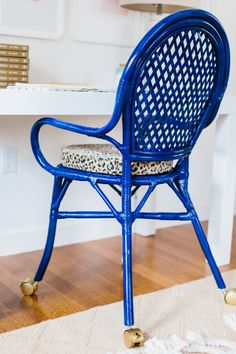 DIY chair: http://www.stylemepretty.com/living/2015/05/29/ikea-hack-cobalt-office-chair/ | Photography: Nicole Baas - http://nicolebaasphotography.com/