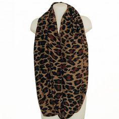 64699a47eea Foulard tour de cou imprimé léopard marron -  foulard  mode  tendance   fashion  milenamoda milena-moda.com