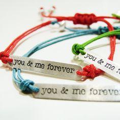 You and me forever - Sterling silver bracelet -. €34,00, via Etsy.