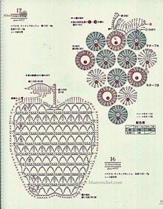 Crochet Patterns Girl Asahi original crochet girls pattern by Crowe Berry – issuu Japanese magazine on knitting … Crochet Potholders, Crochet Motifs, Form Crochet, Crochet Diagram, Crochet Chart, Crochet Home, Thread Crochet, Filet Crochet, Diy Crochet