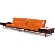 Jens Risom; Walnut Sofa, 1950s.