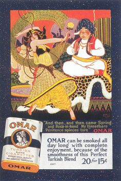 Omar Cigarettes, 1918a | Flickr - Photo Sharing!