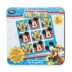 Mickey Mouse Clubhouse Tic-Tac-Toe Game | Disney Store Playing Tic-Tac-Toe has never been more fun as you team up with Mickey and Pluto to enjoy the classic game. Featuring magnetic pieces and handy tin carry case, it's easy to see the attraction.