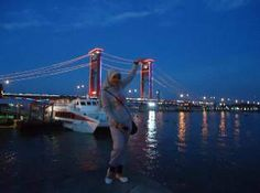 my loveable picture in Palembang,big city of west Sumatera, background of picture is Ampera Bridge.. :))