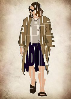 The Dude  The Big Lebowski Print   Minimalist by GeekMyWalL