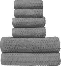 Micro Lush Dark Gray Diamond Dobby Bath Towel