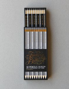 Fucking Brilliant Pencils