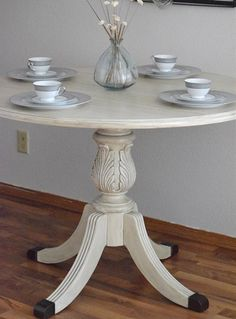 Annie Sloan Chalk Paint | Timeless Creations, LLC Beautiful ornate dining table makeover.