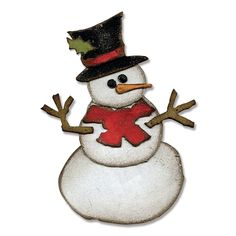 Sizzix - Tim Holtz - Alterations Collection - Bigz XL Die - Assembly Snowman at Scrapbook.com