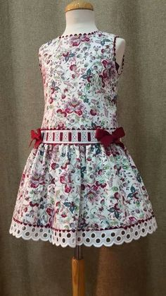 Little Girl Outfits, Toddler Outfits, Kids Outfits, Frocks For Girls, Girls Dresses, Frock Patterns, Moda Kids, Girls Christmas Dresses, Kids Wardrobe