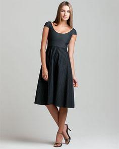 Giorgio Armani Charcoal Tailored Dress