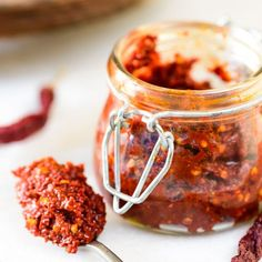 Make red chili paste at home from scratch. Store it in the refrigerator and use as and when needed.