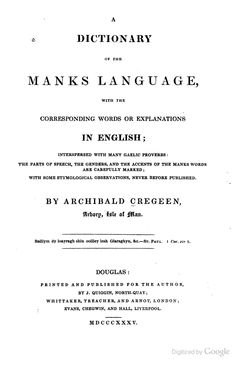Dictionary of Manks language (Isle of Manx, Gaelic) Manx Language, Celtic Nations, Scottish Gaelic, European Languages, Irish Sea, Parts Of Speech, Isle Of Man, Origins, Proverbs