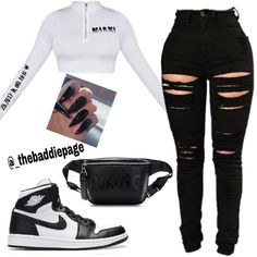 Nike Outfits, Baddie Outfits Casual, Swag Outfits For Girls, Cute Outfits For School, Cute Swag Outfits, Teenage Outfits, Cute Comfy Outfits, Girls Fashion Clothes, Teen Fashion Outfits