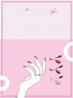 розовый маникюрный салон красоты и моды росписью рекламные плакаты фон, лак для ногтей, розовый фон, мода, Изображение на заднем плане