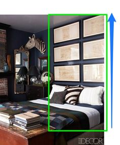 4 ways to visually extend the height of your headboard.  Sugar Cube Interior Basics