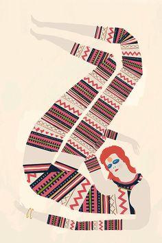 Cat Suit by Keith Negley // David Bowie // Ziggy Stardust
