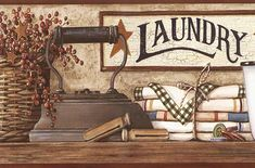 Country Wallpaper for Laundry Room