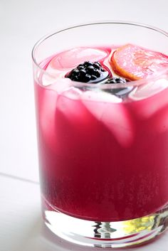 Blackberry Lemonade. It's sweet the second it hits your tongue, but tart the moment you swallow. Both the lemon and blackberries work together to create this balanced drink where both flavors shine equally.