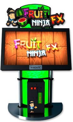 IT'S HUGE!!!!! This is my fantasy piece of equipment right here:  GIANT FRUIT NINJA  FX - you can play this with two people at the arcade near the theaters at the RedRockLasVegas.com or buy it at BMIgaming.com